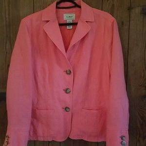 Salmon color blazer